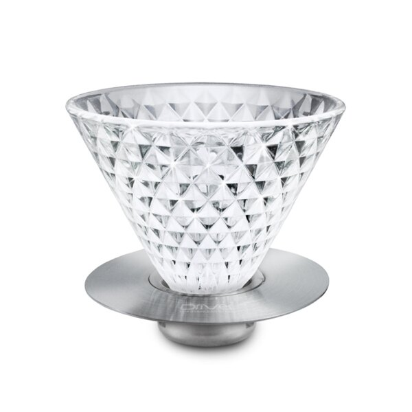 Driver鑽石玻璃濾杯咖啡濾杯2-4cup可搭配不鏽鋼濾紙-大廚師百貨