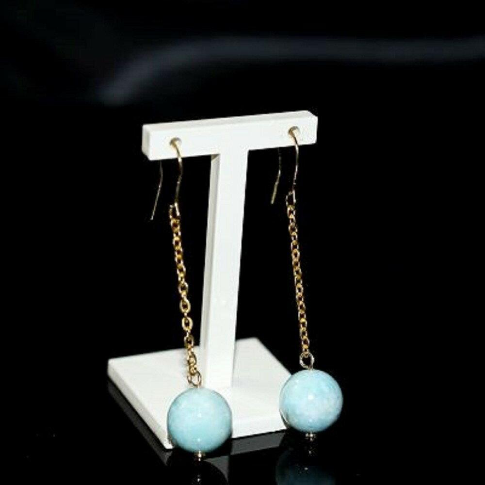 【喨喨飾品】拉利瑪 幸運耳環 有助於凈化各個脈輪的負能量S339