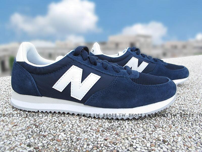 Shoestw【U220NV】NEW BALANCE NB220 復古慢跑鞋 深藍 白N 麂皮 男女尺寸