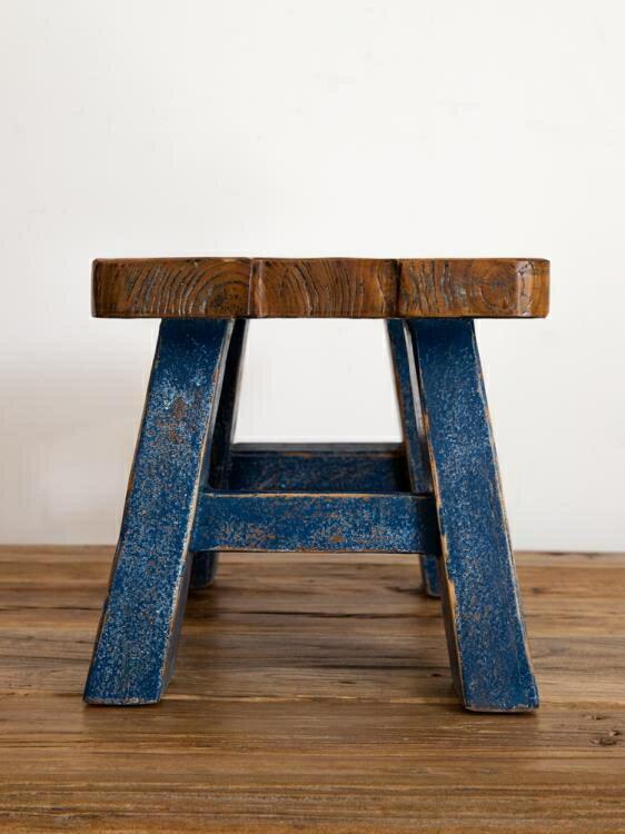 穿鞋凳 換鞋凳實木方凳復古矮凳客廳凳子家用小板凳時尚創意木凳子