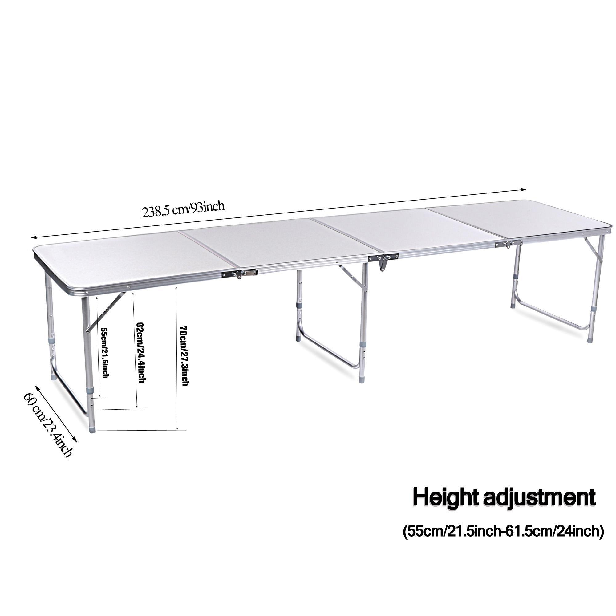 Aluminum 4 In 1 Folding Portable Extension Square Picnic Camping Table Carrying Handle 3
