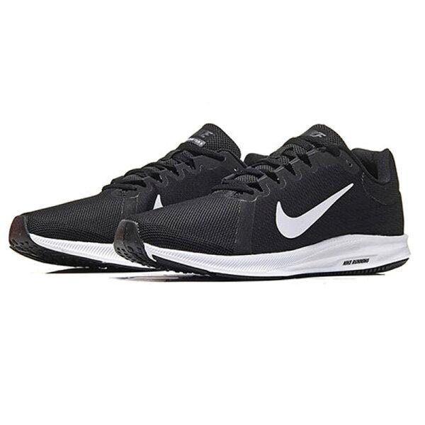 NIKEDOWNSHIFTER8男鞋慢跑休閒輕量透氣網布黑【運動世界】908984-001