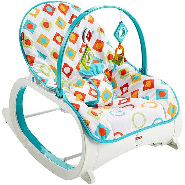 【狂降】Fisher-Price 費雪 新幾何可攜式安撫躺椅【悅兒園婦幼生活館】