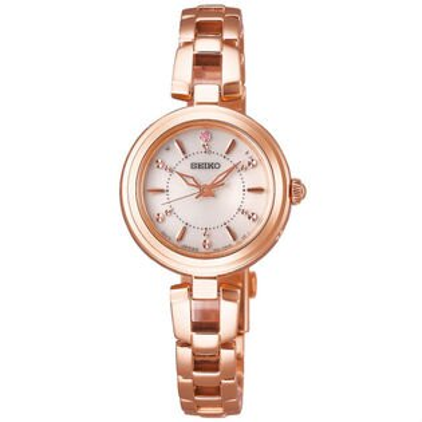 Seiko精工錶Vivace1B21-0AP0K(SWFH092J)小巧時尚太陽能電波腕錶白面25mm