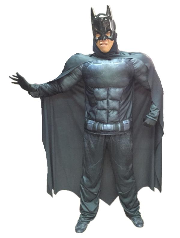 X射線【W370075】蝙蝠俠 肌肉裝(2件式大人),萬聖節/化妝舞會/派對道具/成人變裝/表演/漫威/DC/親子裝/面具