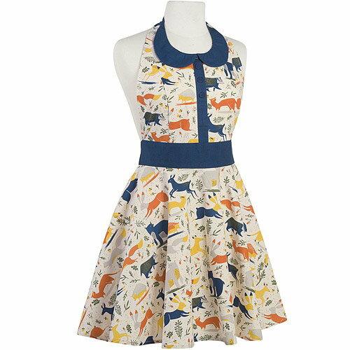 《NOW》洋裝式圍裙(動物奇遇)