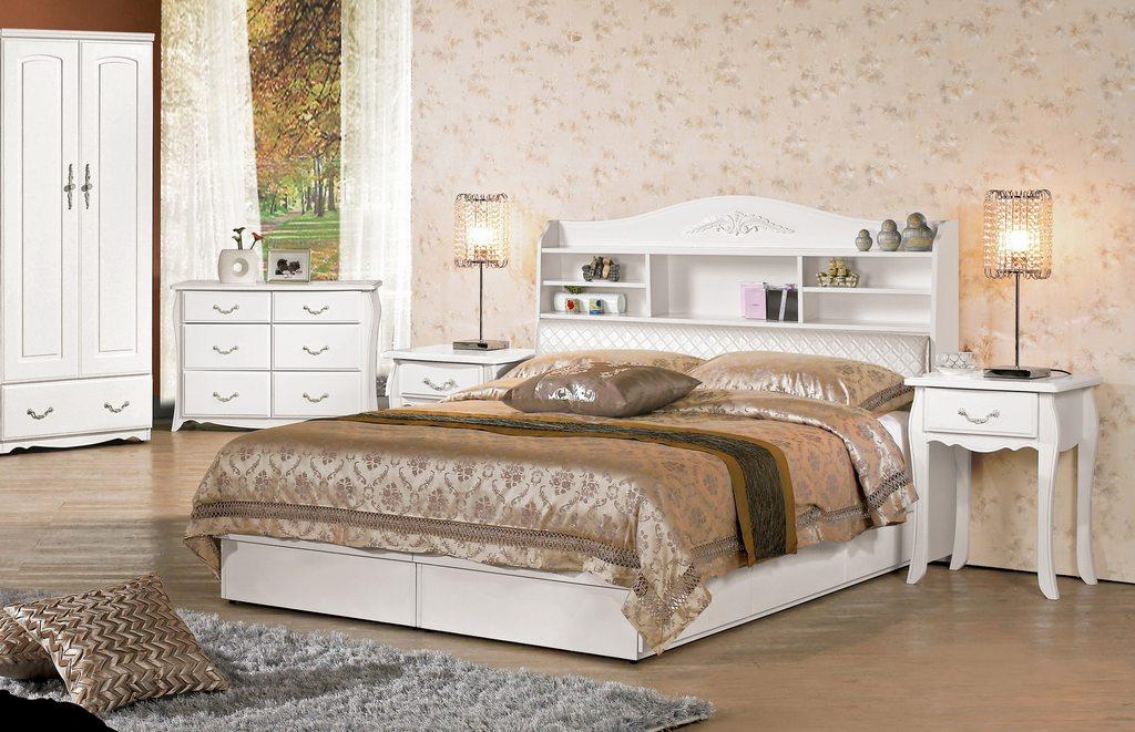 【 尚品傢俱】CM-647-1 仙朵拉5尺被櫥式雙人床 / 3.5尺被櫥式單人床
