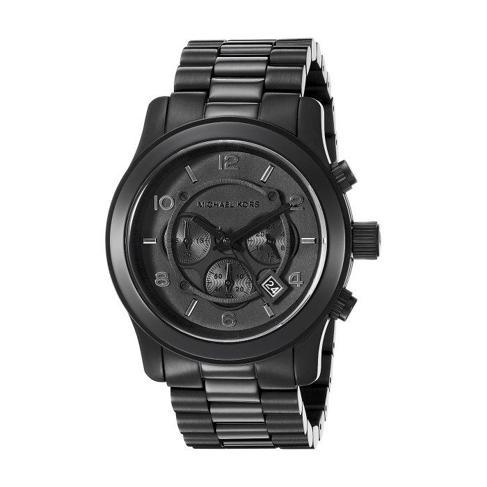 美國百分百【全新真品】Michael Kors 手錶 MK8157 三眼 腕錶 MK 男錶 不鏽鋼 消光黑 H839