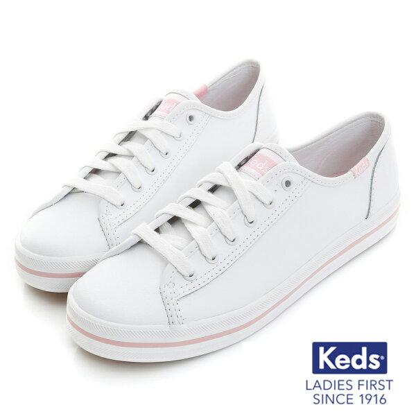 【KEDS促銷85折│粉紅限定款】KedsKICKSTART經典綁帶帆布鞋