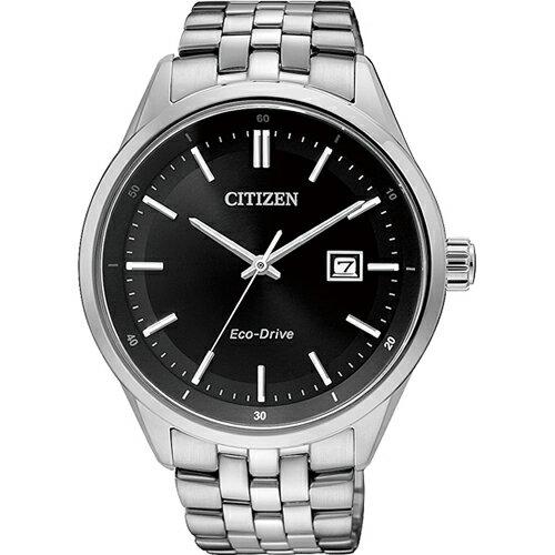 CITIZEN星辰BM7250-56E雅仕經典光動能腕錶/黑面41mm