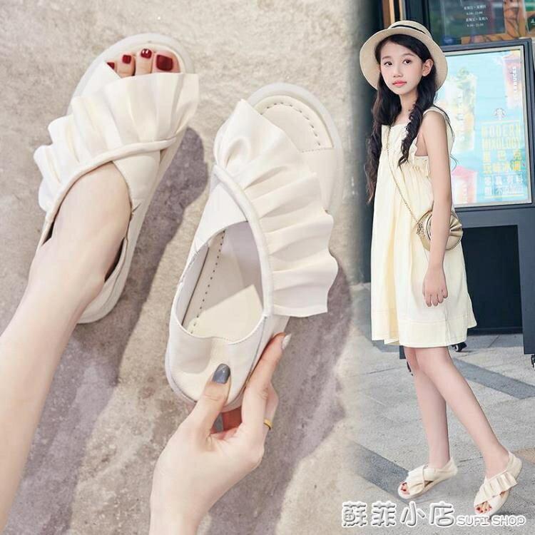 童鞋女童涼鞋2021年夏季新款時尚網紅爆款兒童涼鞋軟底防滑中大童