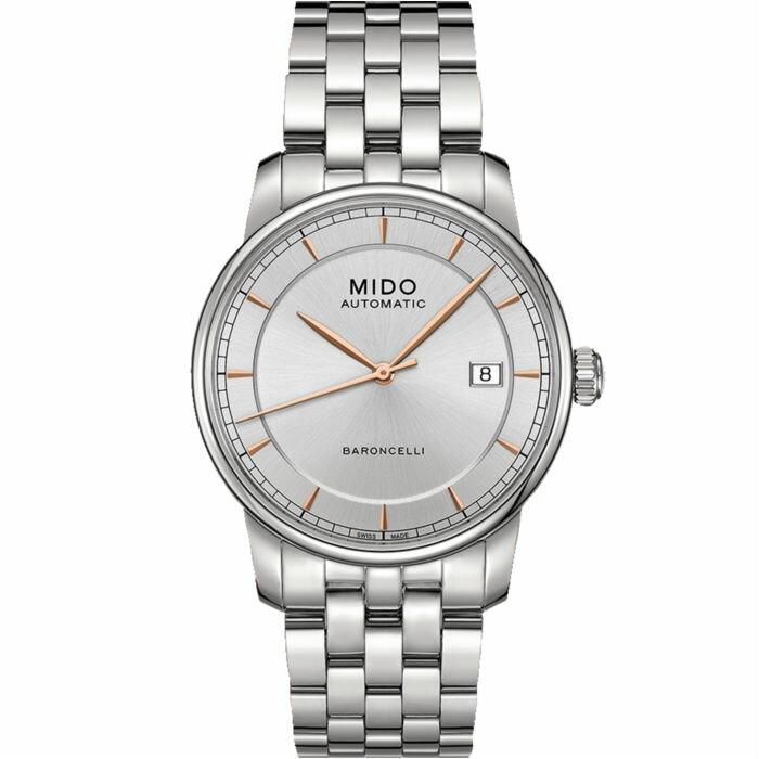 Mido 美度錶 M86004101 Baroncelli系列瑞士簡潔內斂機械腕錶  / 38mm - 限時優惠好康折扣