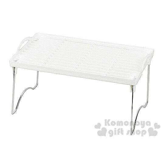 〔小禮堂〕日本Pearl 日製摺疊收納層架《白.網面.M》節省空間
