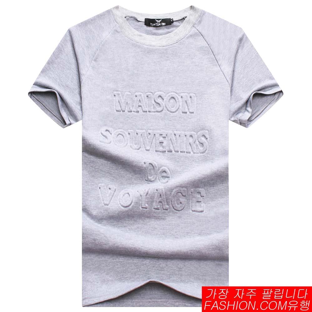 DITION SHOP 韓版立體字母圖騰GD 太空棉短T 權志龍 1