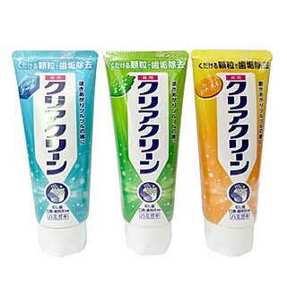 日本花王Clcar Clcan研磨顆粒牙膏130g 三款可選