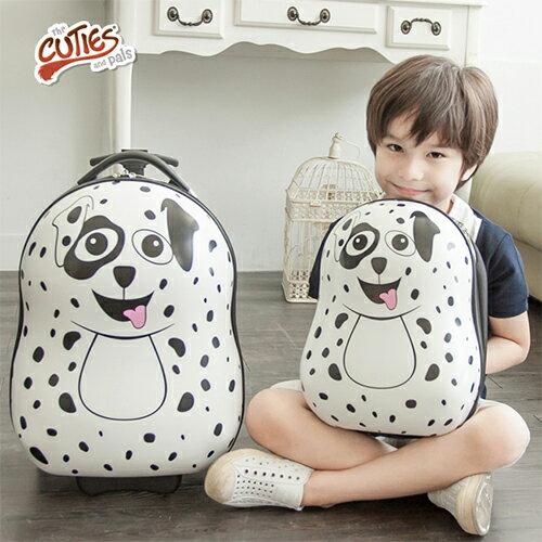 【英國CUTIES and PALS】小狗造型兒童背包旅行箱2入組