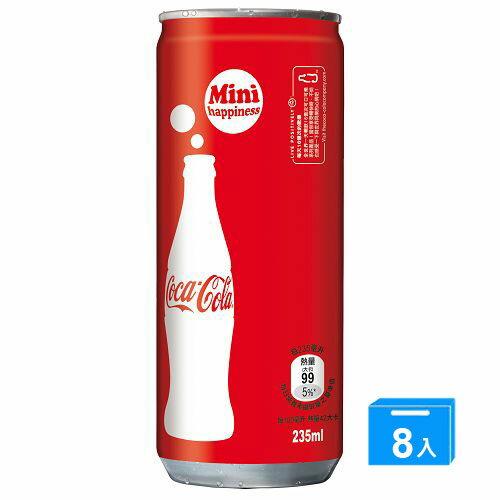 可樂迷你罐 冰箱好拿包 235ml~8入~愛買~