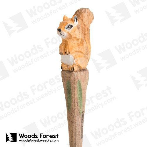Woods Forest 木雕森林 - 手工動物木雕筆【松鼠】
