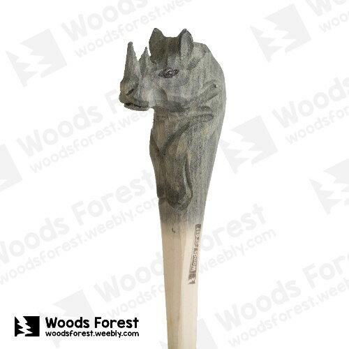 Woods Forest 木雕森林 - 手工動物木雕筆【犀牛】