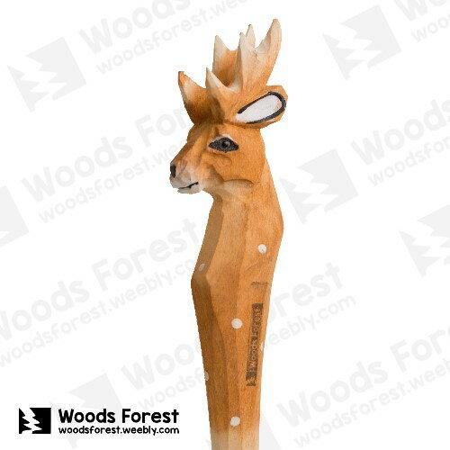 Woods Forest 木雕森林 - 手工動物木雕筆【麋鹿】