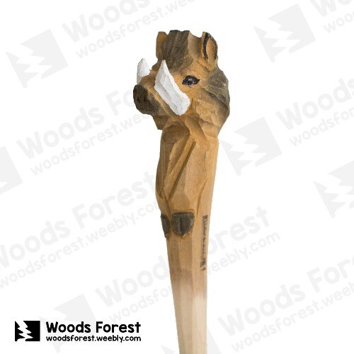 Woods Forest 木雕森林 - 手工動物木雕筆【野豬】
