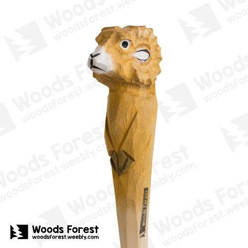Woods Forest 木雕森林 - 手工動物木雕筆【公羊】