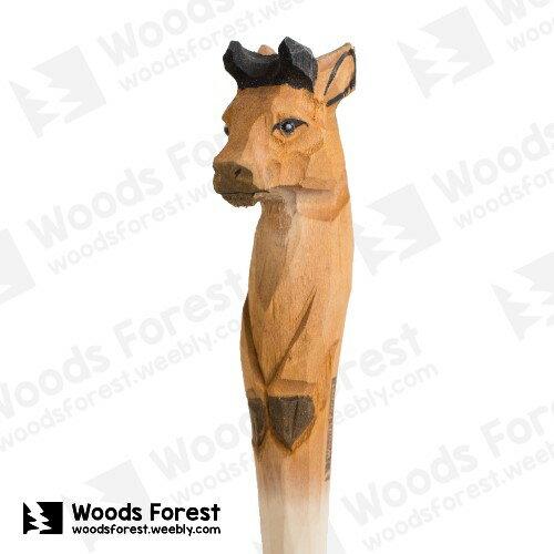 Woods Forest 木雕森林 - 手工動物木雕筆【鬥牛】