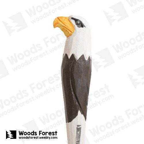 Woods Forest 木雕森林 - 手工動物木雕筆【老鷹】
