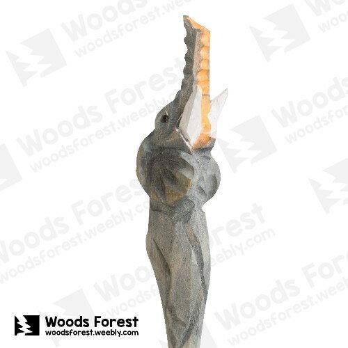 Woods Forest 木雕森林 - 手工動物木雕筆【抬頭象】