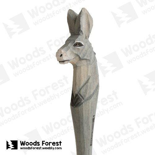 Woods Forest 木雕森林 - 手工動物木雕筆【驢】