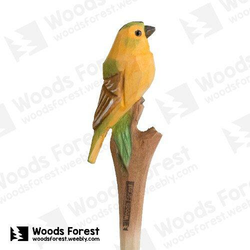 Woods Forest 木雕森林 - 手工動物木雕筆【黃鵲】