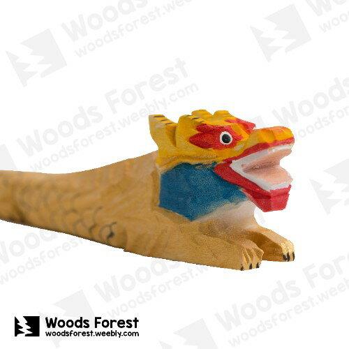 Woods Forest 木雕森林 - 手工動物木雕筆【趴龍】