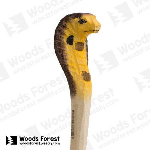 Woods Forest 木雕森林 - 手工動物木雕筆【黑蛇】