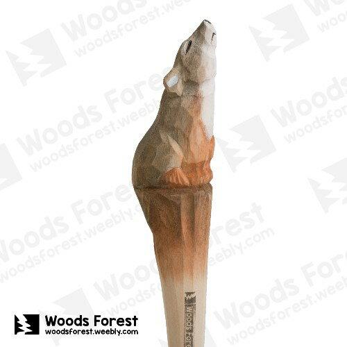 Woods Forest 木雕森林 - 手工動物木雕筆【灰鼠】