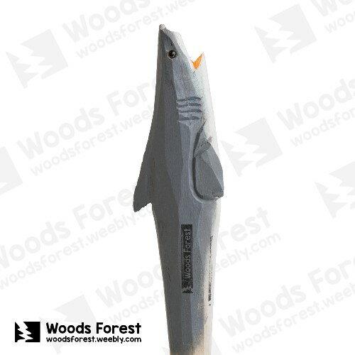 Woods Forest 木雕森林 - 手工動物木雕筆【鯊魚】