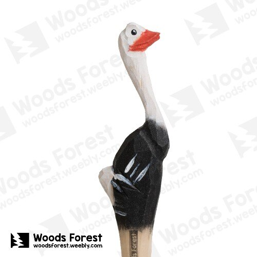 Woods Forest 木雕森林 - 手工動物木雕筆【鴕鳥】