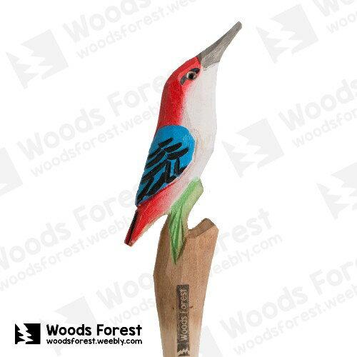 Woods Forest 木雕森林 - 手工動物木雕筆【蜂鳥】