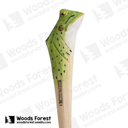 Woods Forest 木雕森林 - 手工動物木雕筆【青蛙】