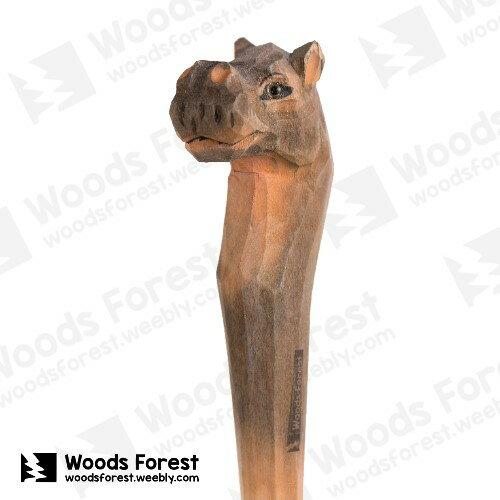 Woods Forest 木雕森林 - 手工動物動物木雕筆【河馬】