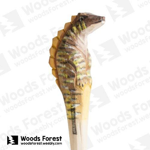 Woods Forest 木雕森林 - 手工動物木雕筆【劍龍】