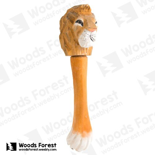 Woods Forest 木雕森林 - 經典款手工動物木雕筆【獅】