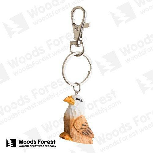【我們約會吧!】木雕森林 木雕鑰匙圈【老鷹】