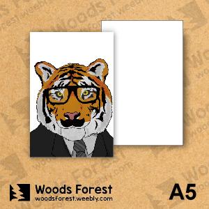 Woods Forest 木雕森林 - A5筆記本【黑框虎】