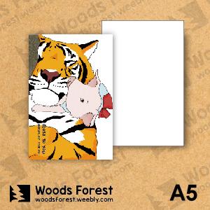 Woods Forest 木雕森林 - A5筆記本【虎與豬】
