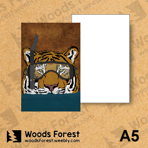 Woods Forest 木雕森林 - A5筆記本【潛水虎】