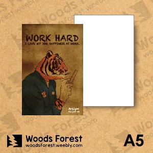 Woods Forest 木雕森林 - A5筆記本【工作虎】