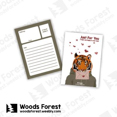 Woods Forest 木雕森林 - 明信片【情書虎】