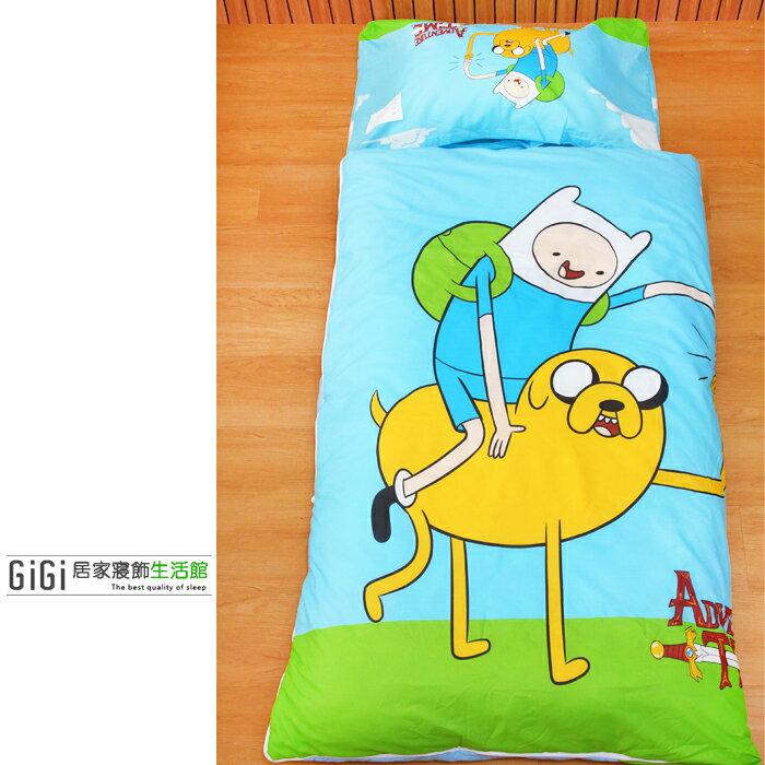 《GiGi居家寢飾生活館》兒童卡通睡袋_台灣製造_老皮&阿寶
