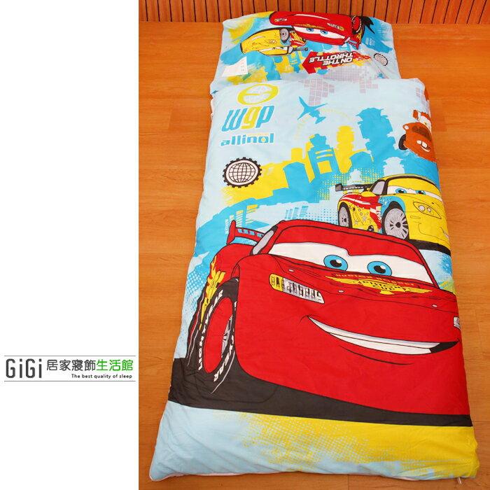 《GiGi居家寢飾生活館》兒童卡通睡袋 台灣製造 Cars 閃電麥坤