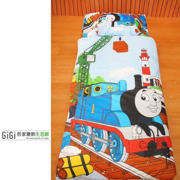 《GiGi居家寢飾生活館》兒童卡通睡袋_台灣製造_湯瑪士